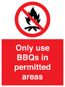 <p>Only use BBQs in permitted areas</p> Text: