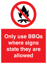 <p>Only use BBQs where signs state they are allowed</p> Text: