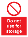 <p>Do not use for storage</p> Text: