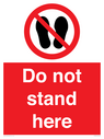<p>Do not stand here</p> Text: