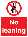 <p>No leaning</p> Text: