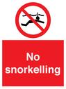 <p>No snorkelling</p> Text: