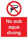 <p>No sub aqua diving</p> Text:
