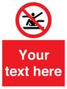 <p>Custom Prohibition Do not stretch out of toboggan</p> Text: