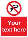<p>Custom prohibition No sub aqua diving</p> Text:
