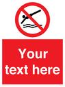 <p>Custom prohibition No diving</p> Text: