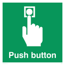 Push button, white text on green Text: Push button
