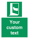 <p>Custom safe condition door opens pushing on left hand side</p> Text: