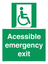 <p>Acessible emergency exit (right)</p> Text: