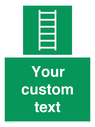 <p>Custom sign safe condition Escape ladder</p> Text: