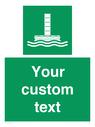 <p>Custom sign safe condition Evacuation chute </p> Text: