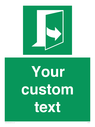 <p>Custom sign safe condition door opens pulling left hand side</p> Text: