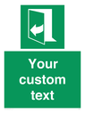 <p>Custom sign safe condition door opens pulling right hand side</p> Text: