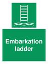<p>Embarkation ladder</p> Text: