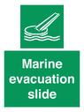 <p>Marine evacuation slide</p> Text:
