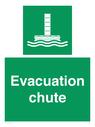 <p>Evacuation chute </p> Text: