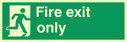 running man facing right Text: fire exit only