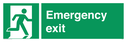 <p>Emergency exit with running man facing right</p> Text: emergency exit