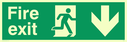 fire-exit-sign-with-running-man-facing-right--arrow-down~