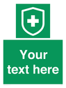 <p>Custom Safe condition; virus protected symbol green back ground / white text</p> Text: