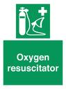 <p>Oxygen resuscitator</p> Text: