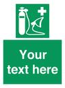 <p>Custom Oxygen resuscitator</p> Text: