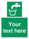 <p>Custom Drinking water</p> Text:
