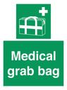 <p>Medical grab bag</p> Text: