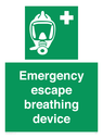 <p>Emergency escape breathing device</p> Text: