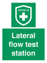 <p>Lateral flow test station</p> Text:
