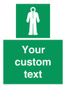<p>Custom sign safe condition Survival clothing</p> Text: