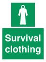 <p>Survival clothing</p> Text: