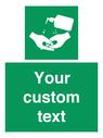 <p>Custom Safe Condition Hand sanitiser</p> Text: