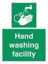 <p>Hand washing facility </p> Text:
