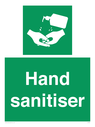 <p>Hand sanitiser</p> Text: