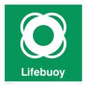 <p>Lifebuoy with symbol</p> Text: Lifebuoy