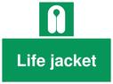 <p>Life jacket</p> Text: Life jacket