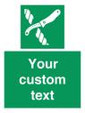 <p>Custom sign safe condition Liferaft knife</p> Text: