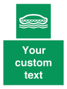 <p>Custom sign safe condition Lifeboat</p> Text: