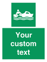<p>Custom sign safe condition Rescue boat</p> Text: