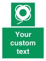 <p>Custom sign safe condition Lifebuoy with line</p> Text: