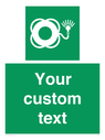 <p>Custom sign safe condition Lifebuoy with light</p> Text: