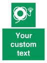 <p>Custom sign safe condition Lifebuoy with line and light</p> Text: