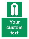 <p>Custom sign safe condition Lifejacket</p> Text: