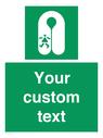 <p>Custom sign safe condition Child's lifejacket</p> Text: