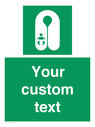 <p>Custom sign safe condition Infant's lifejacket</p> Text: