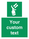 <p>Custom sign safe condition Search and rescue transponder</p> Text: