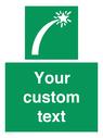 <p>Custom sign safe condition Survival craft distress signal</p> Text: