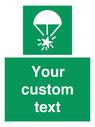 <p>Custom sign safe condition Rocket parachute flare</p> Text: