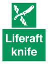 <p>Liferaft knife</p> Text: